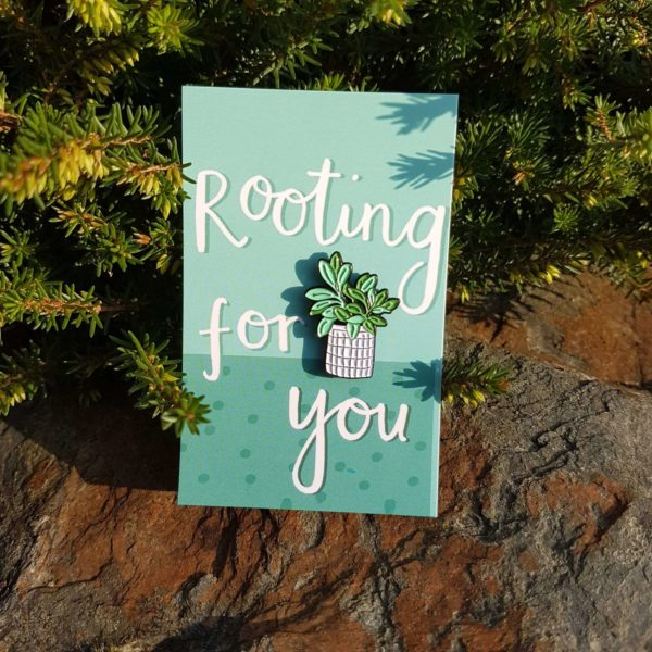 'Rooting for You' Enamel Pin