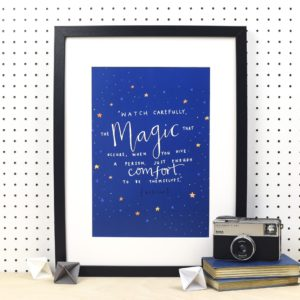 Watch Carefully The Magic A4 Print
