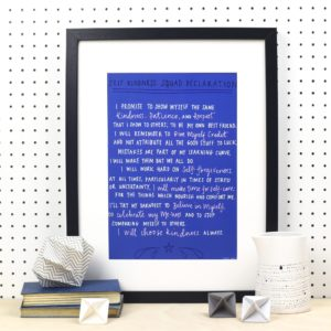 Self Kindness Squad Declaration A4 Print