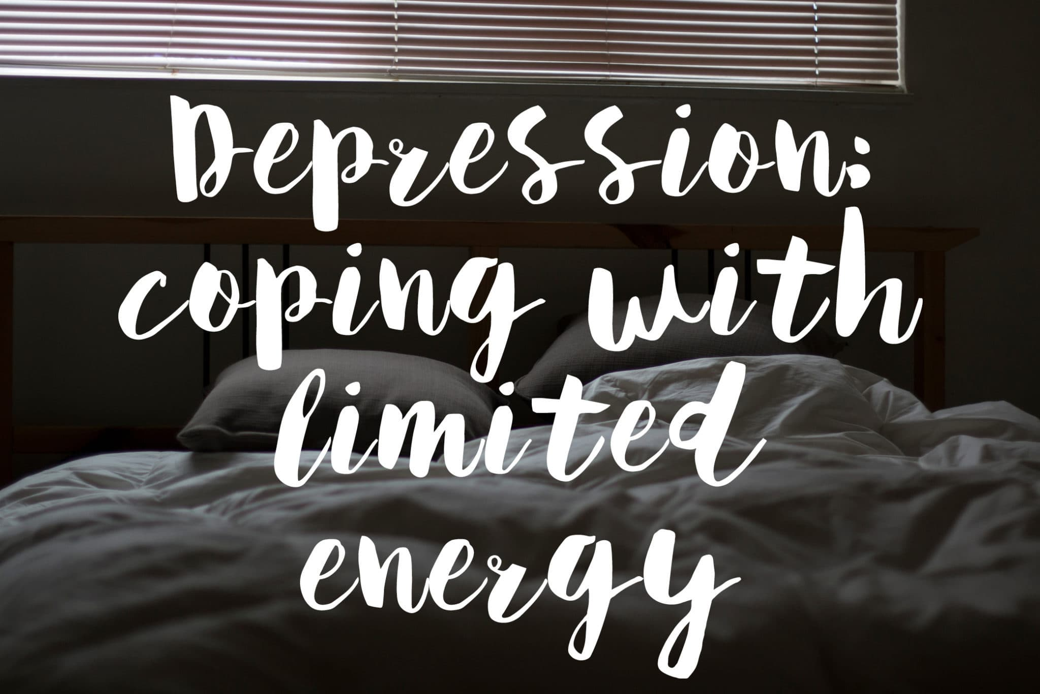 Depression coping with limited energy