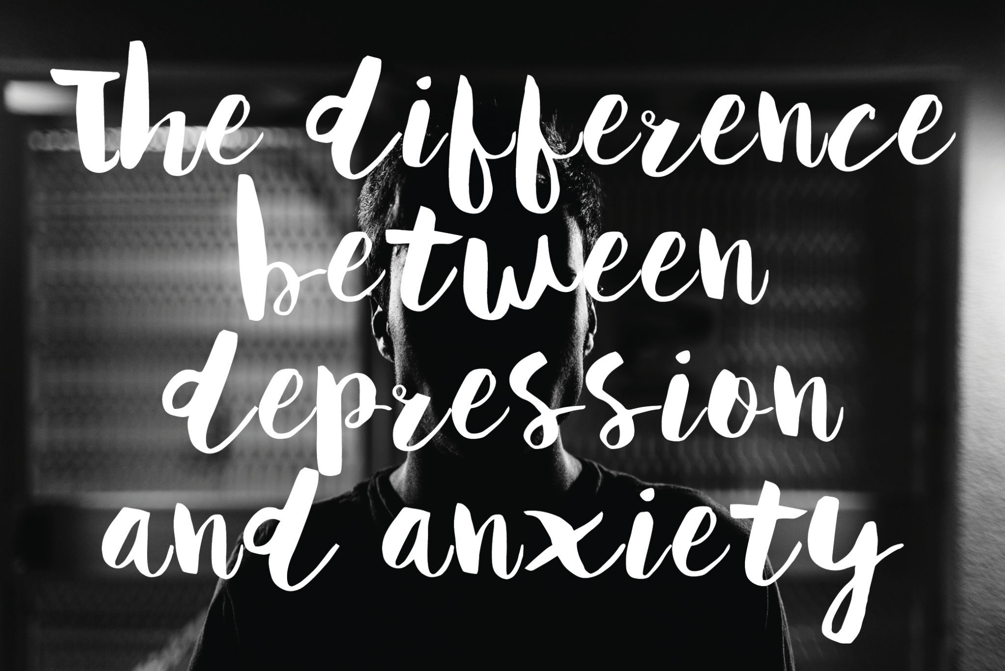 difference between depression and anxiety
