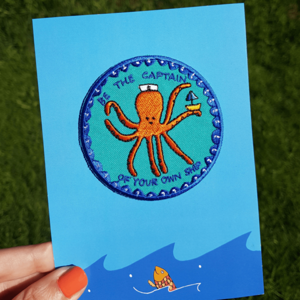 Captain Octopus Iron-On Patch