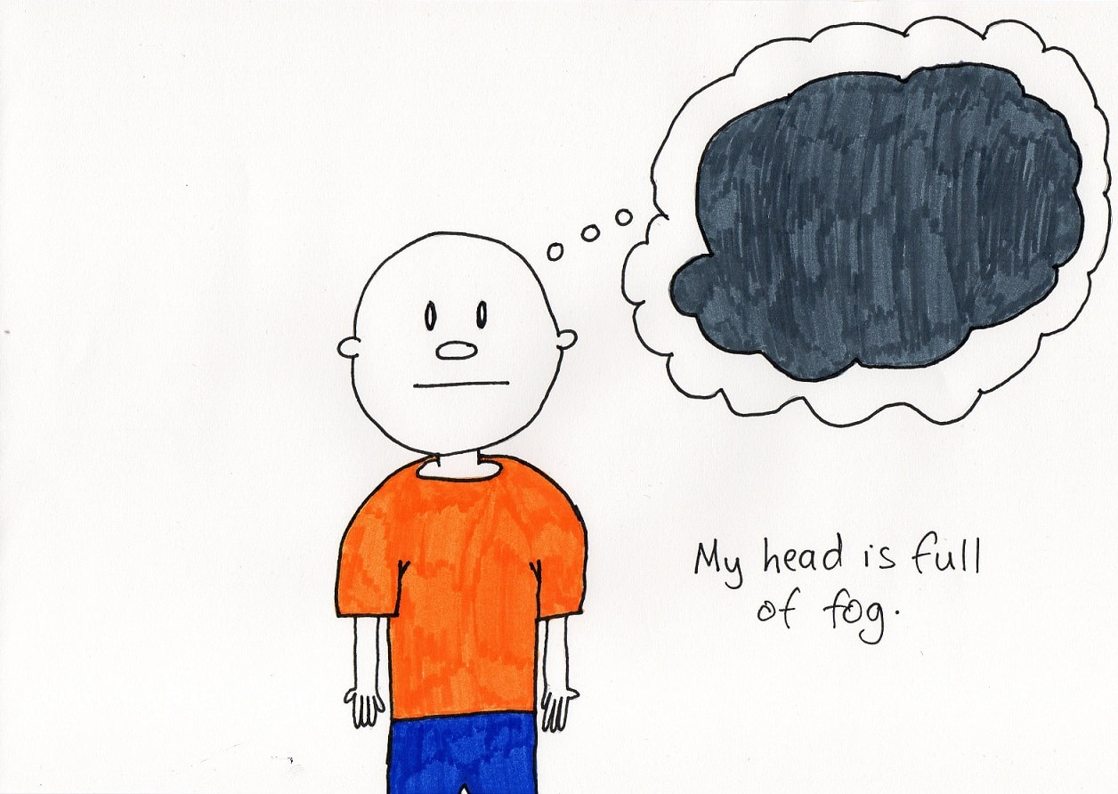 brain fog - - a doodle about living with depression