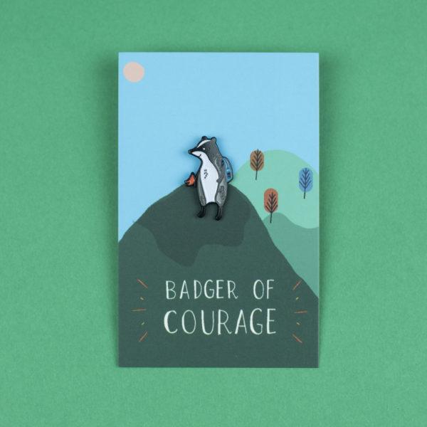 'Badger of Courage' Enamel Pin