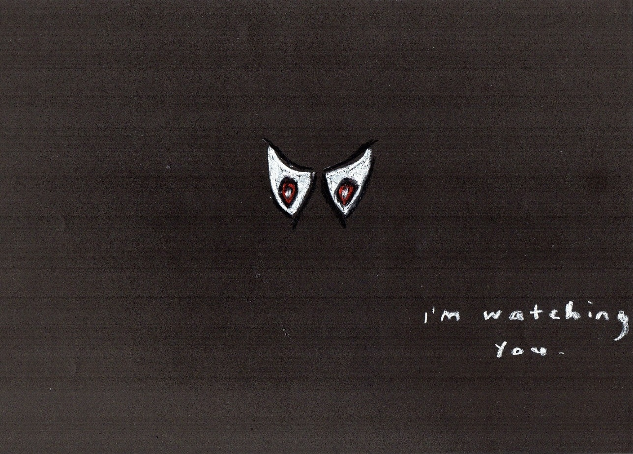 Watching you - a doodle about living with depression