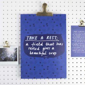 Take a Rest A4 Print