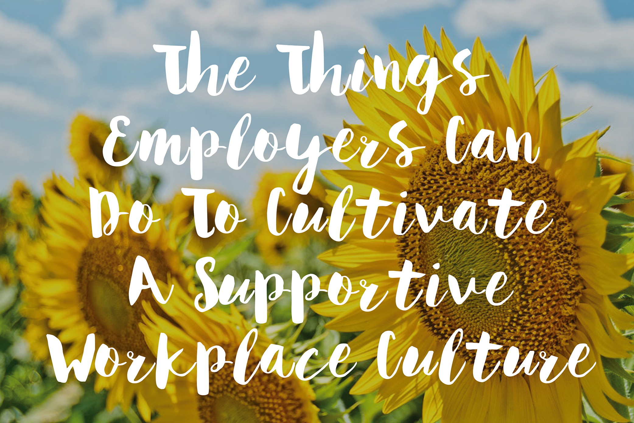 Things Employers Can Do To Cultivate A Supportive Workplace Culture