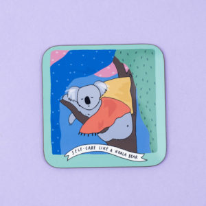 Self-Care Like a Koala Bear Coaster