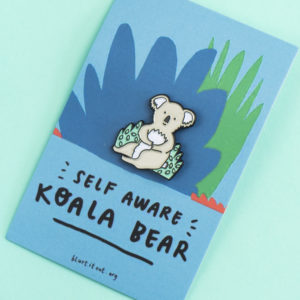 'Self-Aware Koala Bear' Enamel Pin