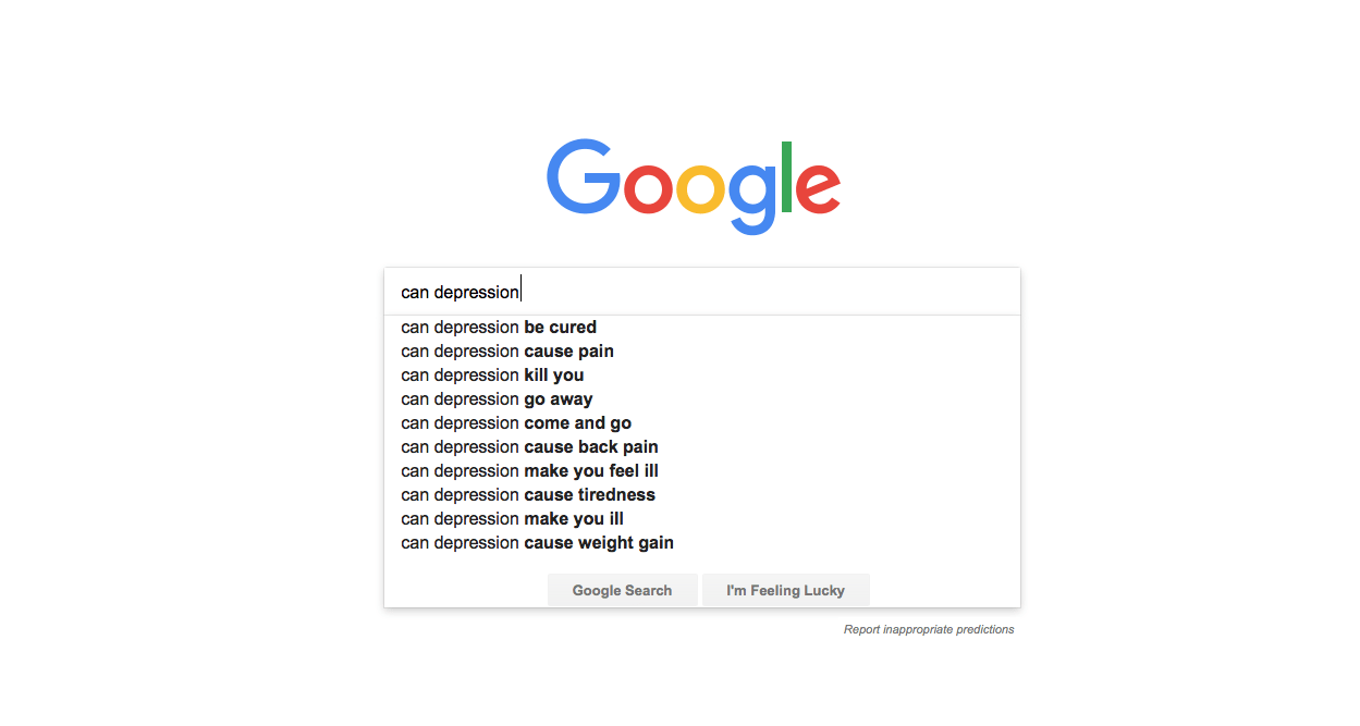 Google Searches: Can Depression...?