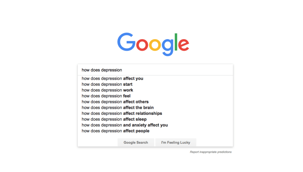 Google Searches How Does Depression