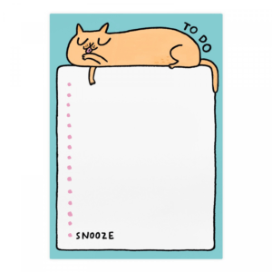 Gemma Correll To Do Snooze Cat A5 Notepad