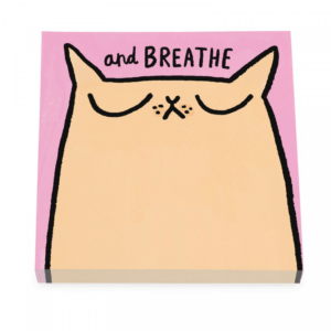 Gemma Correll Breathe Cat Sticky Notes