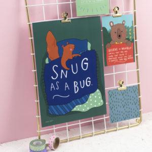 Snug As A Bug A4 Print