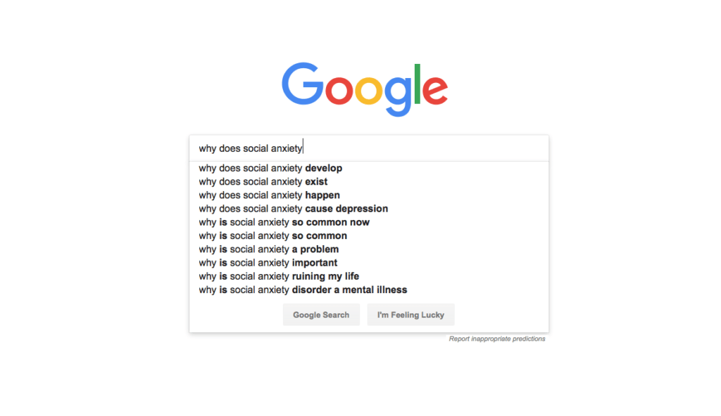 Google Searches How Does Social Anxiety