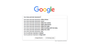 Google Searches: How Does Postnatal Depression...?