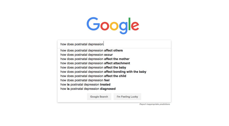Googles Search: How Does Postnatal Depression
