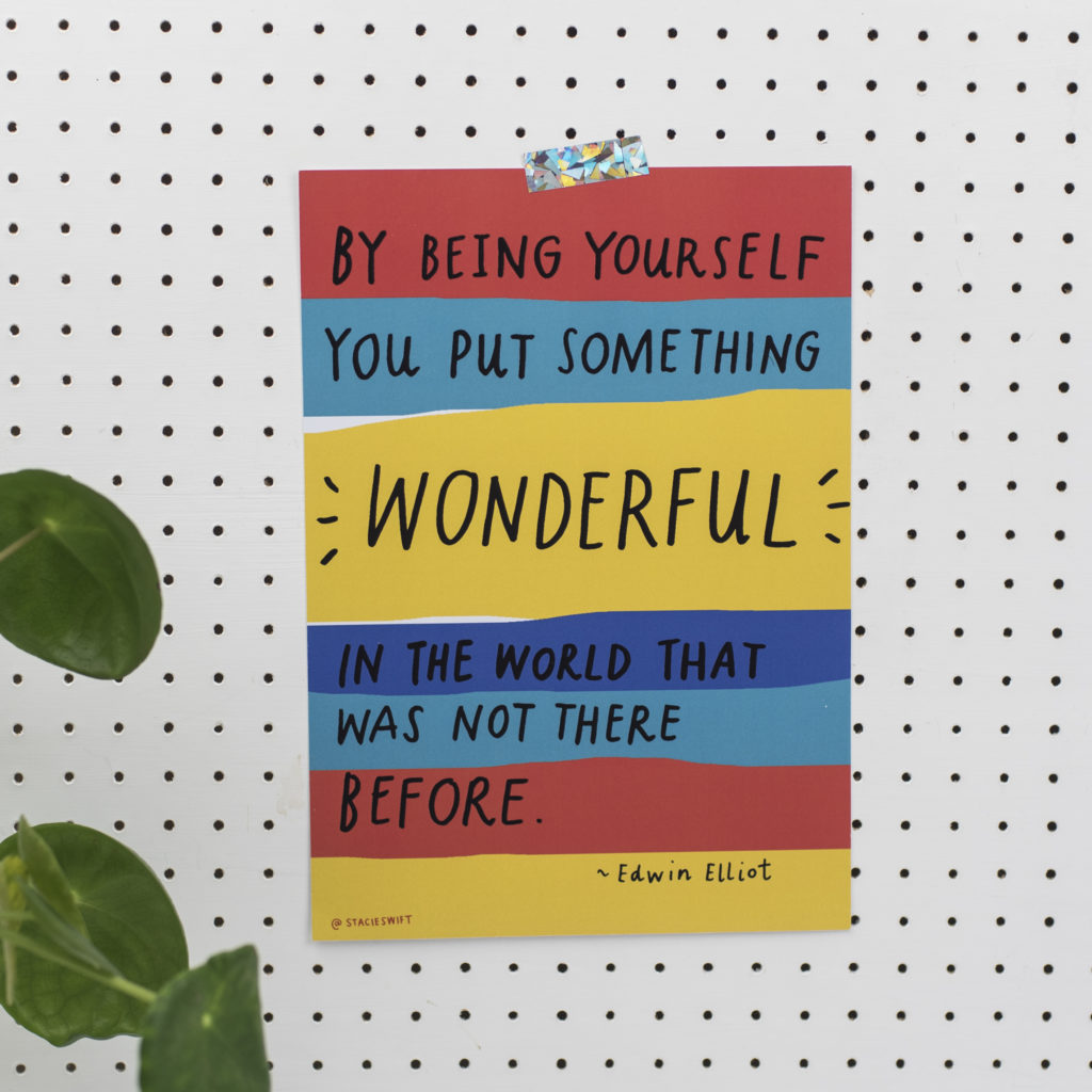 Being Yourself A4 Print - The Blurt Foundation