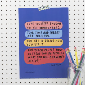 Limited Edition Stacie Swift Love Yourself A4 Print