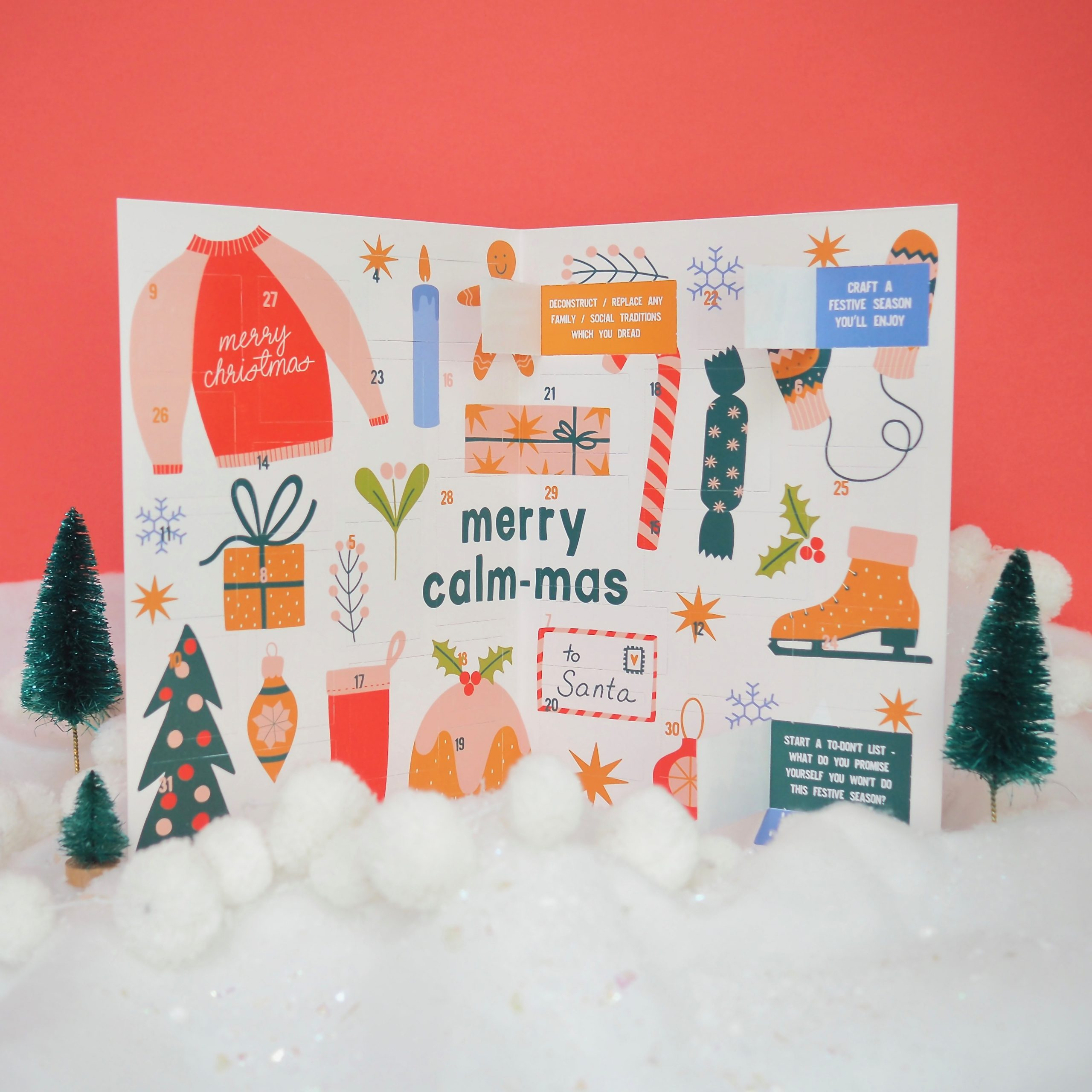 a3 Merry Calm-ma Advent Calendar With 31 Self-Care Prompts